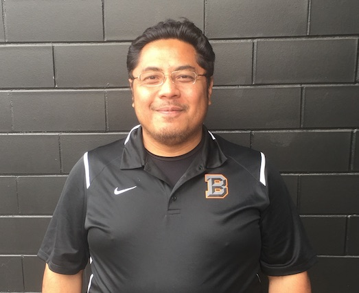 Headshot of newest volleyball coach, Alfred Tualagi.