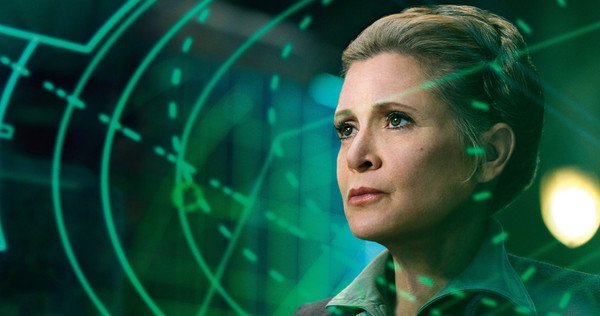 Carrie Fisher in The Force Awakens (2015).
