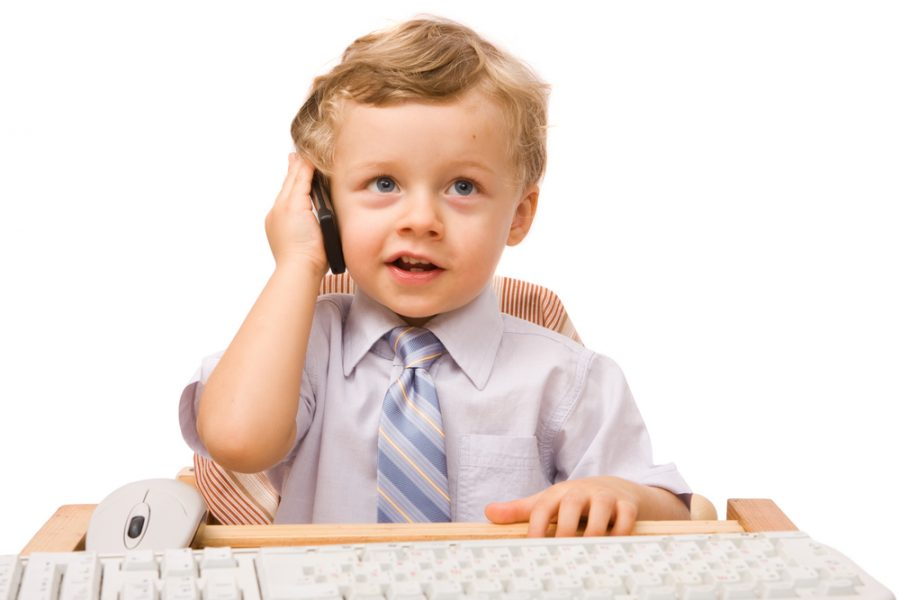 As I sit on the phone, trying my hardest to converse with adults, I feel like a child.