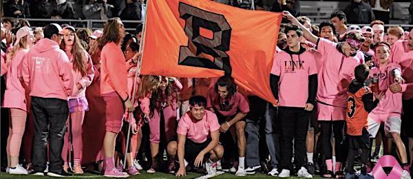 The Beaverton Beavers celebrate last year's Pink Week game.