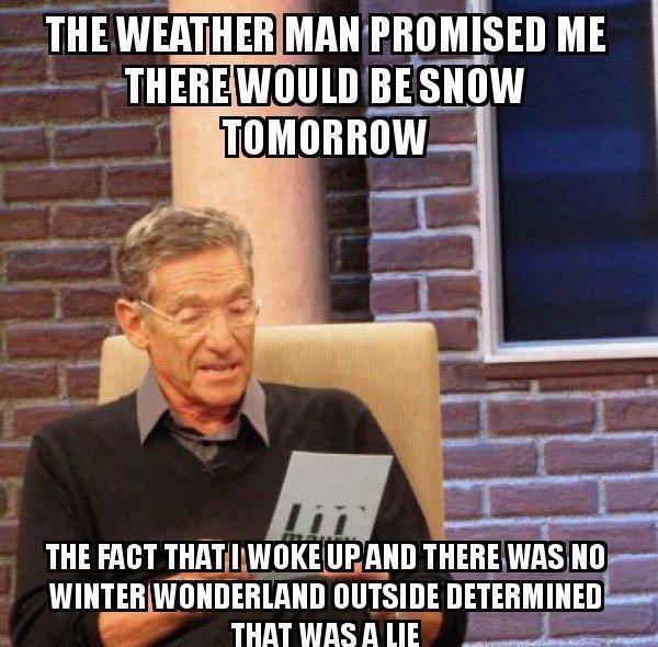 Dude, where's my snowpocalypse?