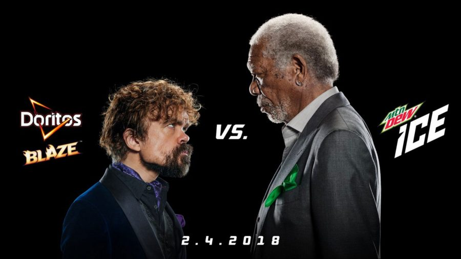 Peter+Dinklage+and+Morgan+Freeman+in+a+major+stare+down