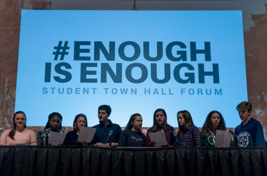 Students create a town hall forum and come together at Portland State University to talk about the issue of gun violence.