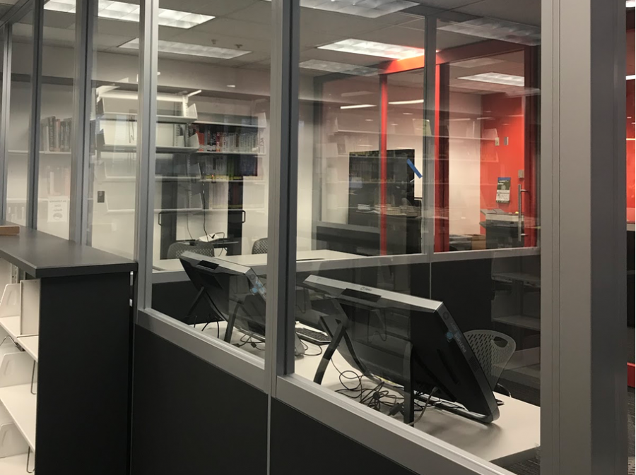 A close look at two of the new collaboration rooms, which are set to open soon.