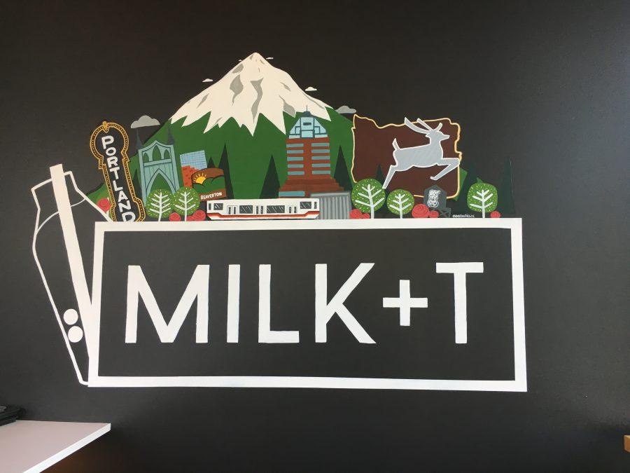 The Oregon and Milk+ T design inside the new boba shop in Beaverton