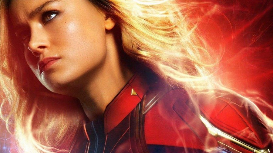 Brie+Larson+playing+Carol+Danvers+%28Captain+Marvel%29+poses+for+one+of+the+many+promotional+pictures+for+the+recently+released+film.
