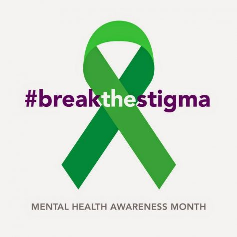 The green ribbon is the symbol used during mental health awareness month.