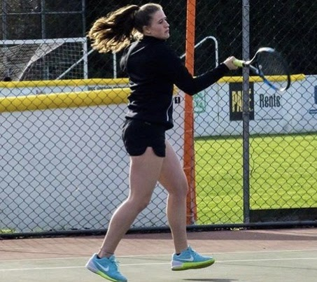Women's tennis player Cassidy Binder earned third place in singles last year.