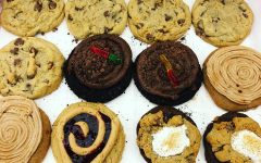 This box of twelve features chocolate chip, peanut butter and jelly, dirt cake, churro, and s'mores cookies.