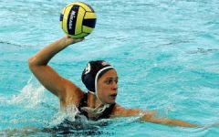 Elsie Windes competes in a water polo match.