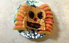 A smiling slice of bread proves that healthy eating doesn't have to be a downer.