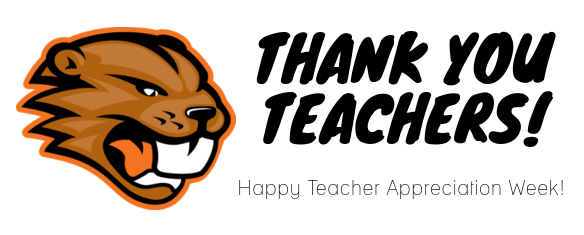 A graphic shows appreciation for teachers.