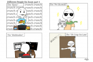 Comic: Types of people on Zoom (part 1)