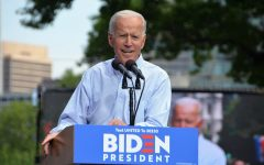 Then-presidential candidate Joseph R. Biden Jr. speaks at an event. Incumbent President Donald J. Trump has mounted numerous legal challenges against Biden's victory.