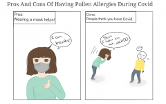 Comic: Pros and cons of having pollen allergies during the pandemic