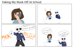 Comic: Taking my mask off at school